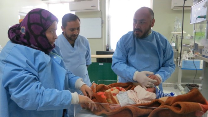 Newborn Exam in Hospital